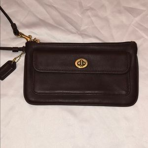 Vintage Coach Wristlet in brown NEVER USED